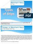 Types of Ships in Merchant Navy