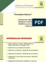 Relaciones y Funciones ISL 2.0