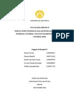 Tugas Kelompok II Peran Audit Internal Dalam Penilaian Komponen Internal Control-coso Dan Komponen Internal Control-erm