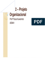 Aula 2 – Projeto Organizacional