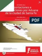 Exportaciones e Importaciones Por Aduana Santa Fe 2004-2013