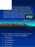 the political groups in the time of jesus
