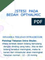 Anestesi Pada Bedah Opthalmic