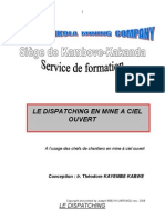 Le Dispatching en Mine a Ciel Ouvert