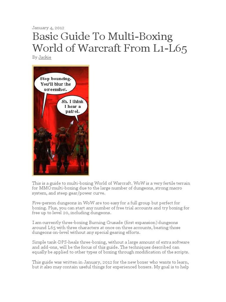 Multiboxing Guide | World Of Warcraft | Computer Keyboard