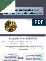 Tóxicos Naturales Que Forman Parte Del Alimento
