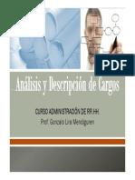 Clase Análisis y Descripción de Puestos