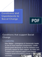 conditions and impediments to social change