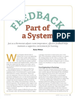 Feedback Part of a System (Dylan Wiliam)