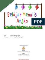 Belajar Menulis Angka