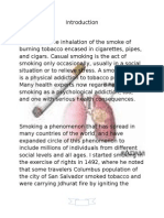 Introduction Definition Smoking is the Inhalation of the Smoke Of