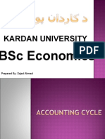 Accounting Cycle Bsc Economics Kardan