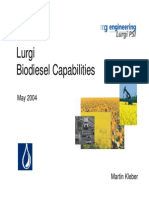 Lurgi Biodiesel Info and References May 2004