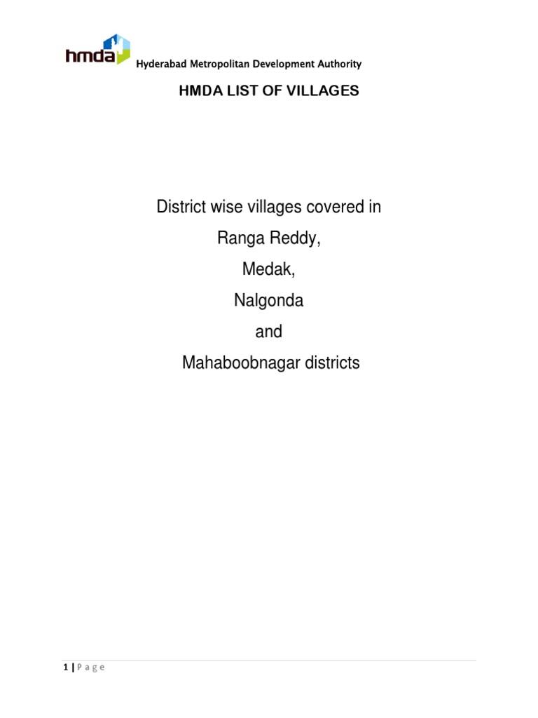 Hm Da List of Villages