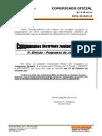 Calendário Infantis 2014-2015