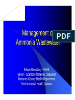 Ammonia Waste Water