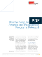 Recognition Programs Relevant