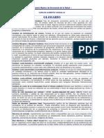 Glosario Economia y Salud