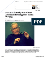 Noam Chomsky on Where Artificial Intelligence Went Wrong - Techn