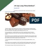 Cokelat Seperti Apa Yang Menyehatkan