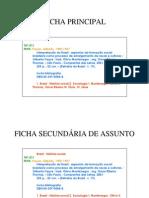 Exemplo de Ficha Catalografica