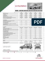 Ficha Técnica Citroën Berlingo Multispace