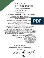 De Liguori, Alfonso Maria - Istoria Delle Eresie, T. 1