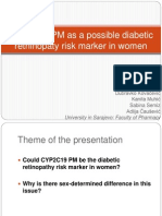 CYP2C19 PM as a Possible Diabetic Rethinopaty Risk