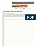 3rd Edition D and D Collectors Guide