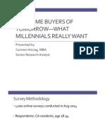 2014 Millennials Survey Webinar