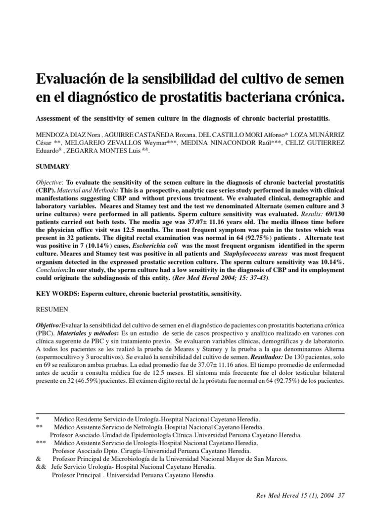 Prostatitis bacteriana aguda curable