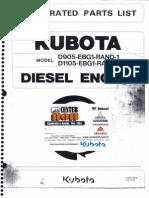 Catalogo de Pecas Motor Kubota d905 - d1105