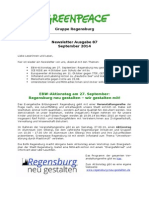 Newsletter 87 Greenpeace Regensburg September 2014