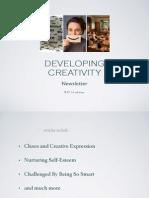 Developing Creativity newsletter 9.27.14