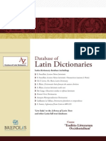 Database of Latin Dictionaries