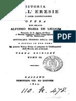 De Liguori, Alfonso Maria - Istoria Delle Eresie, T. 3
