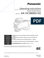 AK-HC3800 Operating Instructions