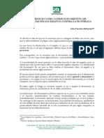 Paredes Infanzon, Jelio. El Perjuicio Como Condicion Objetivo de Punibilidad en Los Delitos Contra La Fe Publica