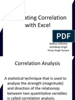 Calculating Correlation With Excel