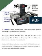 LY IR9000 BGA Rework Station User guide