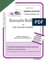Inyo County Sample Ballot 7