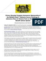 Victory Brewing Company Announces Sponsorship of the BADASS Dash™
