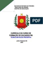 Curriculo Do CFSD - 2005