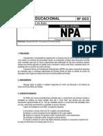 Norma Educacional 0003 _Regulamenta a Elaboracao de NGAs