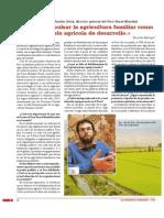 Entrevista a Auxtin Ortiz, director general del Foro Rural Mundial. «Se debe impulsar la agricultura familiar como modelo agrícola de desarrollo.»