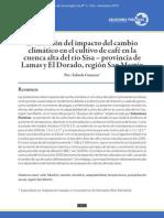 Evaluación del impacto del cambio climático en el cultivo de café en la cuenca alta del río Sisa – provincia de Lamas y El Dorado, región San Martín