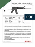 Ruger AR-556 Modern Sporting Rifle Spec Sheet