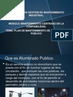Plan de Mantenimiento Alumbrado Publico