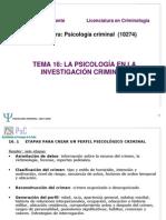 TEMA 16 Psicología Criminal