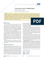 A Mechanism for the Occurrence of Ions in Distilled Water